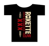 ROXETTE - T-SHRT, XXX LOGO BLACK (2014)